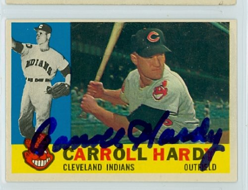 Carroll Hardy AUTOGRAPH 1960 Topps #341 Cleveland Indians