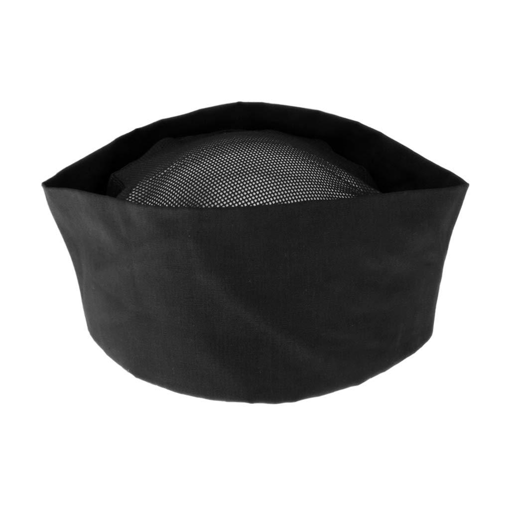perfk 3x Chef Chapeau en Coton Toque de Cuisinier Chapeau de Cuisine avec Dos /Élastique Casquette de Travail de Restaurant pour Adultes
