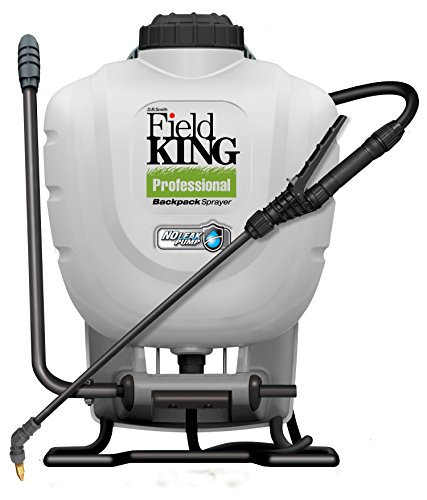 Pump Poly Gallon Piston 4 (Field King Professional 190328 No Leak Pump Backpack Sprayer for Killing Weeds in Lawns and Gardens)