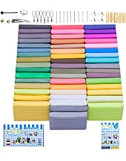 Polymer Clay, 50 Colors Oven Bake Clay with 27 Models Creations Book, Modelling Clay Soft and Nontoxic DIY Plastic Tools and Accessories(size 5*3*1 CM, 0.705 OZ)