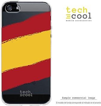 Funnytech® Funda Silicona para iPhone 5 / 5S / SE [Gel Silicona Flexible, Diseño Exclusivo] Bandera España Transparente: Amazon.es: Electrónica