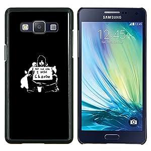¿Quieres Cambio- Metal de aluminio y de plástico duro Caja del teléfono - Negro - Samsung Galaxy A5 / SM-A500