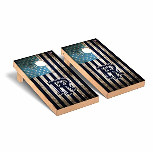 Rhode Island University of Rams Operation Hat Trick Cornhole Game Set Vintage Flag OHT Vintage Flag by Victory Tailgate