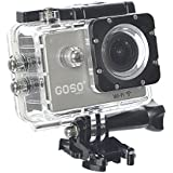 GOSO Waterproof Sport Action Camera WiFi HD 1080P 12MP 170 Degree View Angle & 2.0 inch LCD bundle with Mounting Accessories Bicycle accessory Helmet mount