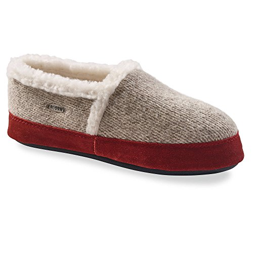 Bundle Women's Ragg Moc Cleaner Oxy Acorn Slippers Grey Ragg Wool amp; x0AEdwq