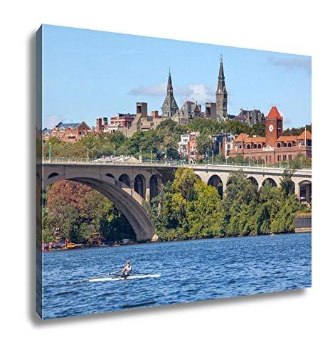 (Ashley Canvas, Key Bridge Georgetown University Washington Dc Potomac River, 16x20)