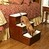 Solvit Three Step Wood Dog Steps - Cherry