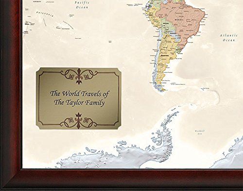 Amazon personalized world traveler map wall art gumiabroncs Image collections
