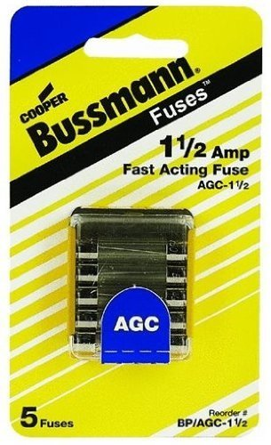 Bussmann Fuse Fast Acting Electronic Equipment 1.5 Amp 250 V 1/4