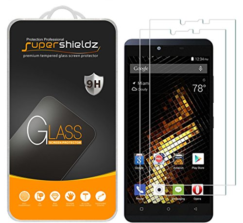 (2 Pack) Supershieldz for BLU Vivo XL Tempered Glass Screen Protector, Anti Scratch, Bubble Free