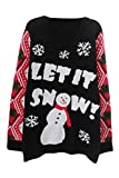 Product review for sovoyant Women's Decorating Snowmen Long Sleeve Knitting Funny Cute Ugly Christmas Sweater Plus Size