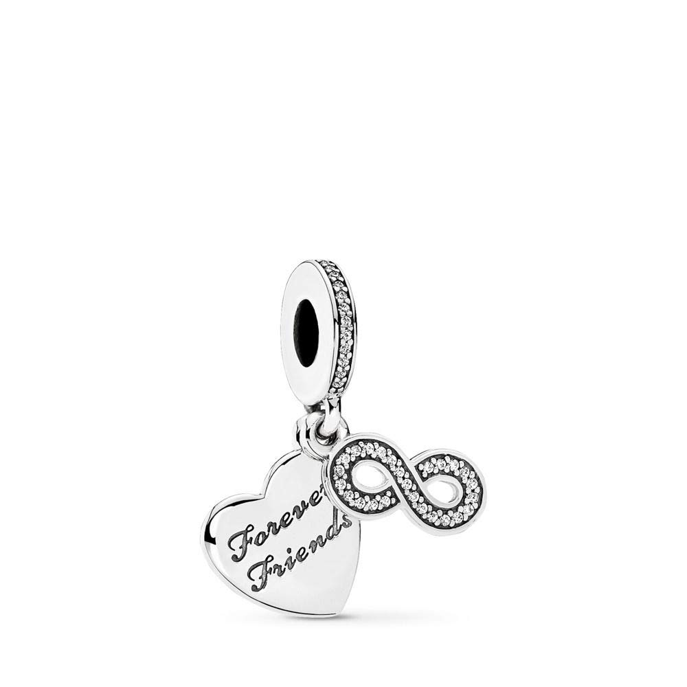 PANDORA Forever Friends Dangle Charm, Sterling Silver, Clear Cubic Zirconia, One Size by PANDORA