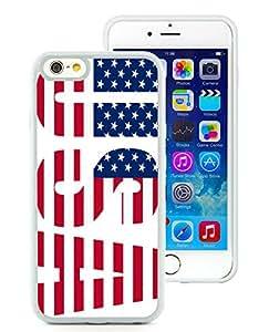 Customized American Flag 14 iPhone 6 4.7 Inch TPU White Case