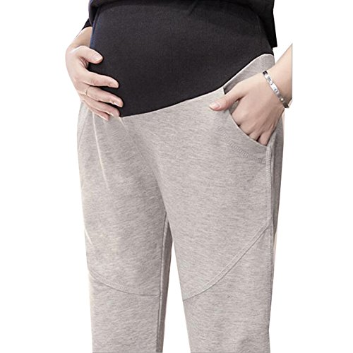 Dingcaiyi Maternity Gravidanza Grigio chiaro Leg Women Pantaloni indossare Straight Sport L Yoga morbido cotone rAZ4rBwRxq