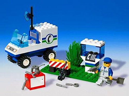 LEGO System Telephone Repair, 43 Pieces, 6422, Retired Set from 1998 System Town, Town Jr.