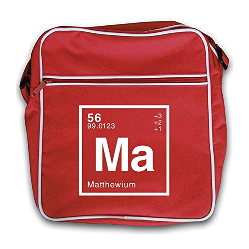 Matthew Flight Red Periodic Element Dressdown Bag Retro dwUqdI