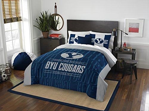 The Northwest Company Officially Licensed NCAA BYU Cougars Modern Take Full/Queen Comforter and 2 Sham Set