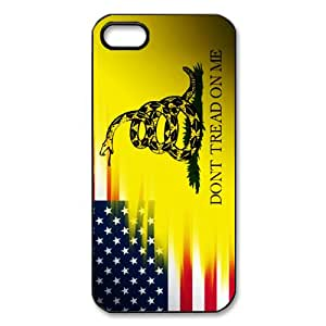 Generic Don't Tread On Me Best Flag and Snake Black Plastic Cell Phone Cases Cover for iPhone 5 case iPhone 5s case
