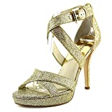 Michael Michael Kors Evie Platform Women US 7.5 Gold Sandals
