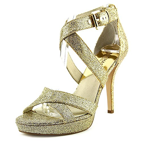 Michael Michael Kors Evie Platform Women US 7.5 Gold Sandals by MICHAEL Michael Kors
