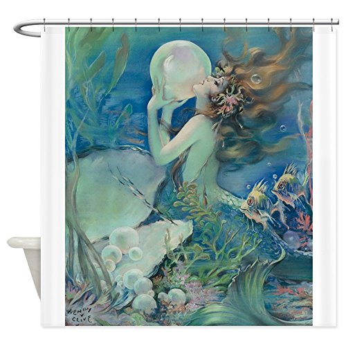 CafePress Nouveau Mermaid Decorative Curtain