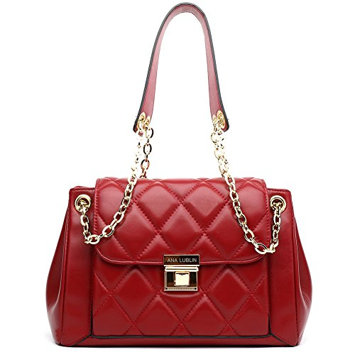 Lambskin Shoulder Bag Small Handbag Real Leather Quilted Classic Flap Cross Body Purse from ANA (Lamb Handbag)