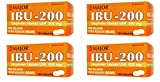( 4 Pack ) IBUPROFEN 200MG DYE FREE TAB IBUPROFEN-200 MG White 100 TABLETS UPC 309047914593