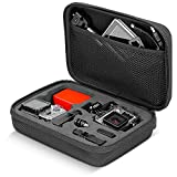 "Neewer Black 8.6"" x 6.5"" x 2.6"" / 22 x 16.5 x 6.6cm Shockproof Case with Protector Pouch for GoPro Hero Session/5 Hero 3 3+ 4 5 SJ4000 5000 AKASO VicTsing APEMAN WiMiUS Rollei QUMOX and Accessories"