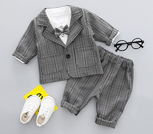 bcd30b2913de9 (ラボーグ)La Vogue ベビー服 フォーマル スーツ 長袖 シャツ ジャケット ズボン 3点セット 正装