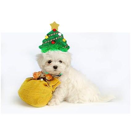 TJW Diadema Perros Gatos de la Navidad,Diadema Ajustable ...