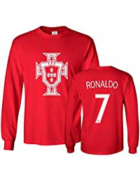 6d67ca931ff Portugal Soccer Shirt Cristiano Ronaldo  7 Jersey Men s Long Sleeve T-shirt
