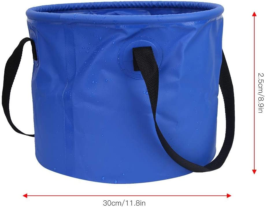 Azul 5L B Baosity 1 Unid Cubo de Agua Multiusos Plegable Al Aire Libre Supervivenc/ía Multiusos