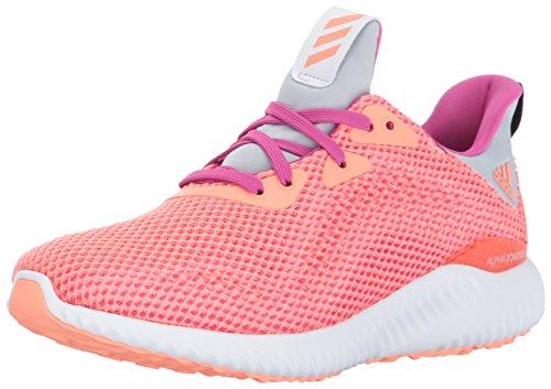 adidas Performance Girls' Alphabounce j Running Shoe, Bahia Magenta/Sun Glow/Clear Grey, 3.5 Medium US Big Kid by adidas