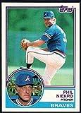 Baseball MLB 1983 Topps #410 Phil Niekro Braves