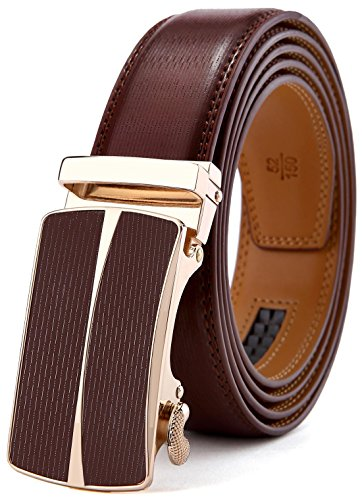 Men's Belt,Bulliant Slide Ratchet Belt for Men with Genuine Leather 1 3/8,Trim to ()