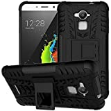 SDO™ Dual Layer Military Kickstand Hybrid Warrior Case Back Cover for Coolpad Note 3 Plus (5.5 inch) (Black)