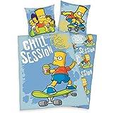 Herding 4408025027 Parure de Lit pour Enfants/Jeunes avec Imprimé Simpsons en Coton Multicolore 140 x 200 cm