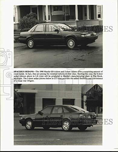 1990 Press Photo 1990 Mazda 626 4-door and 5-door sedans - tua53310