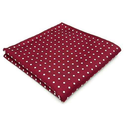 SHLAX&WING Red Dots Maroon Wedding Necktie Men's Tie Fashion