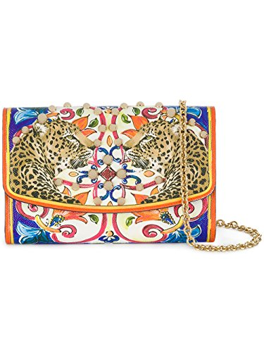 Dolce Gabbana Leather Purse - Dolce E Gabbana Women's Bi1028an433hhi85 Multicolor Leather Shoulder Bag
