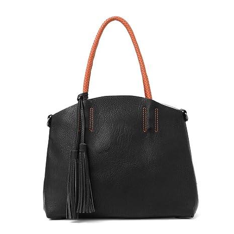e4b40aa0f6 Amazon.com  Handbag Women Large Bucket Shoulder Bag Black  Sports ...