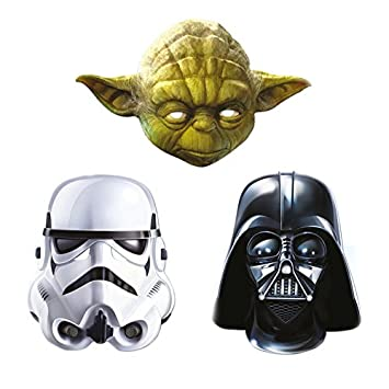 Star Wars 3 Mask Pack - Darth Vader Stormtrooper and Yoda