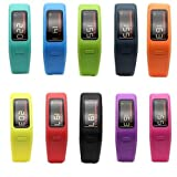 Speak& Set of Colorful Replacement Fitness Wrist Bands for Garmin Vivofit with Clasps - Fitness Bracelet -(No Tracker, Replacement Bands Only) (Large)