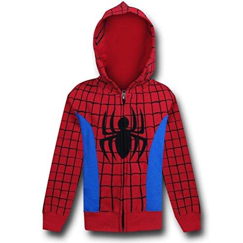 Spiderman Comic Costume Kids Hoodie- Juvenile 5/6