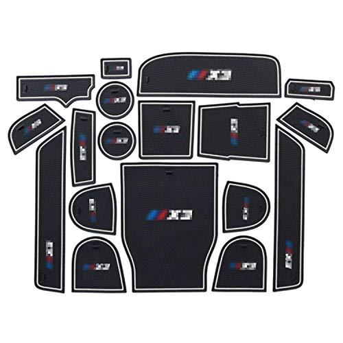 R RUIYA Compatible Car Slot Mats 2018 BMW X3 G01 Car Accessory Interior Door Mat Cup Mat Center Console Organizer Storage Box (Slot Mats White)