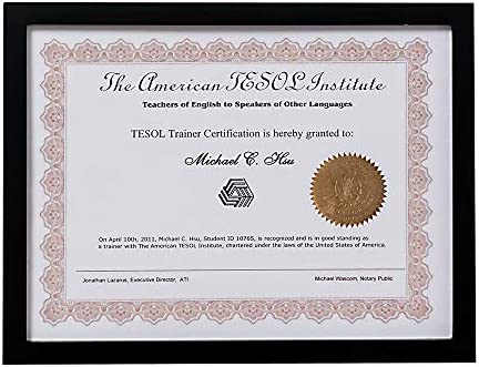 FINEWF Document Frame Gallery Certificate for 8.5x11 Inch Degree Frame for Your Diploma Award Certificates Documents Photo Black