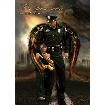 The Difference between us and them Police Officer by James Bullard Print Poster