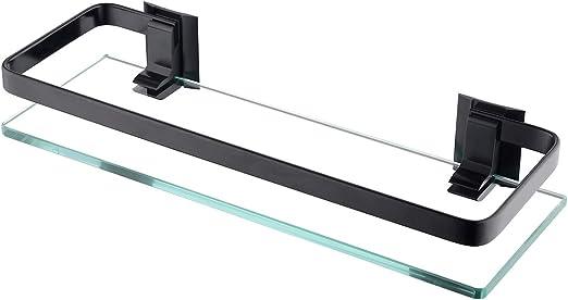 KES Estanterías para baño 35 x 12 cm, Estante de Vidrio para Ducha ...