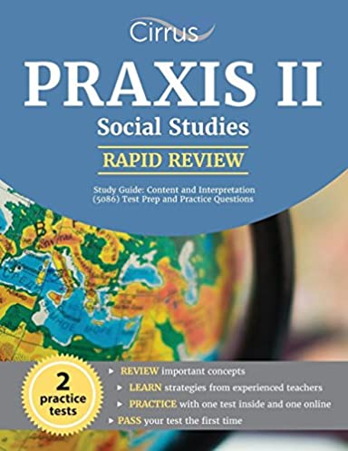 praxis ii social studies rapid review study guide content and rh amazon com Praxis II Test CLEP Study Guide