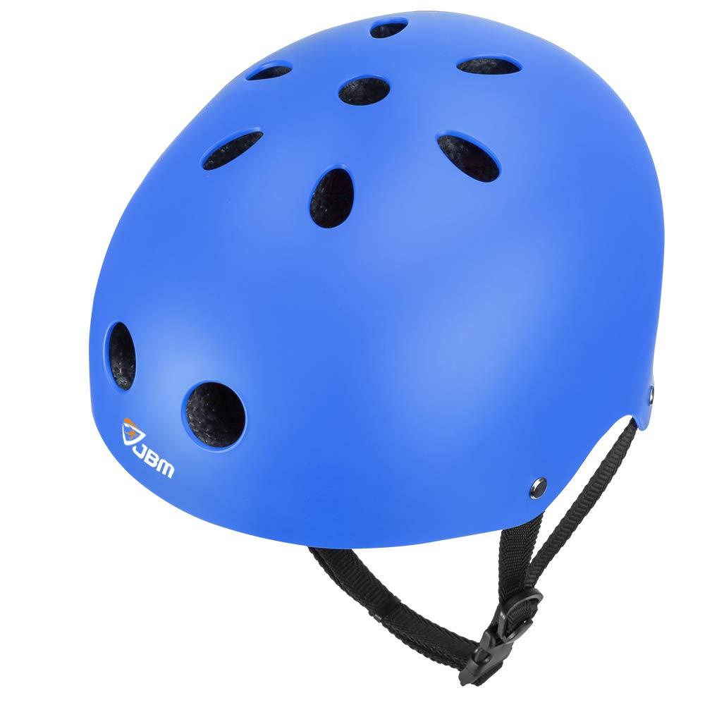 JBM Skateboard Helmet CPSC ASTM Certified Impact Resistance Ventilation for Multi Sports Cycling Skateboarding Scooter Roller Skate Inline Skating Rollerblading Longboard